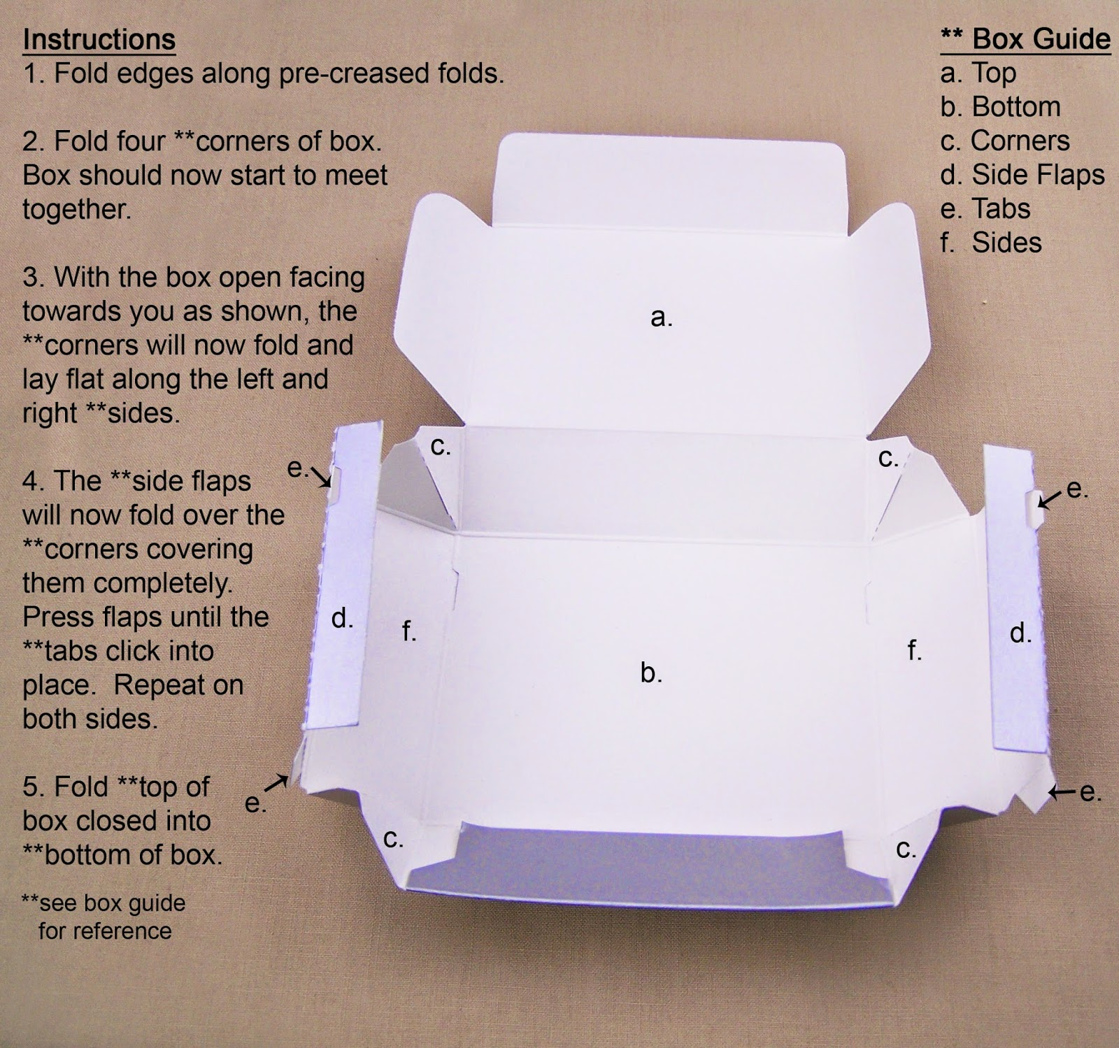 How To Fold Your Cake Boxes Picture Guide