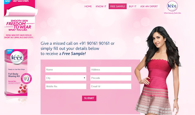 Get Free Sample of Veet wax strips