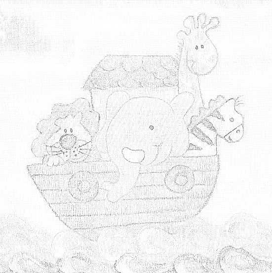 pintura em tecido infantil fralda risco arca noé