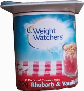Weight Watchers British Favourites Yogurts - rhubarb