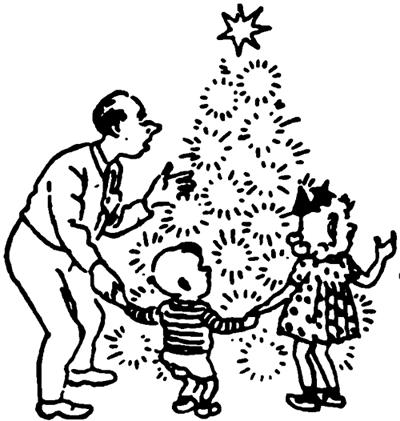 The Day Before the New Year — Подготовка к Новому году. New Year's Evening — Текст о праздновании Нового года семьей Стоговых