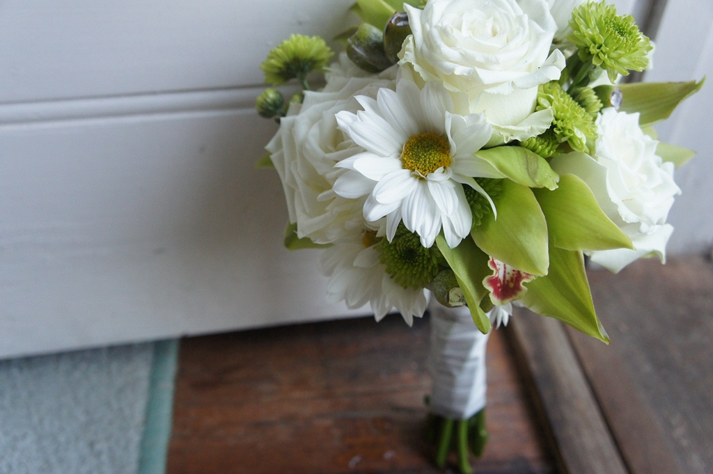 Sugar Bee Flowers White Green And Yellow Wedding