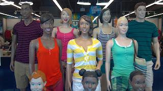 smiling mannequins