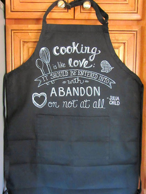 Julia Child Quote Painted Apron