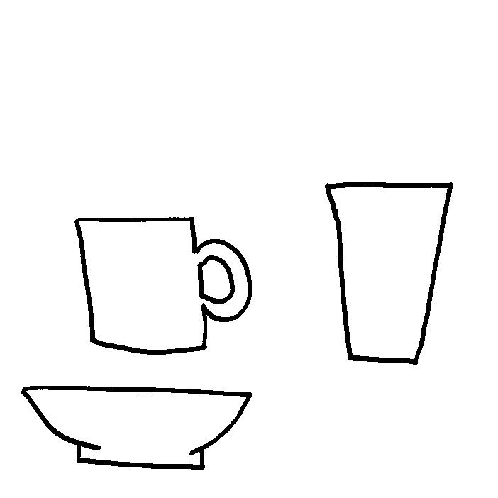 Cup and bowl