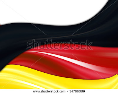 stock photo germany flag over white background black red and yellow colors