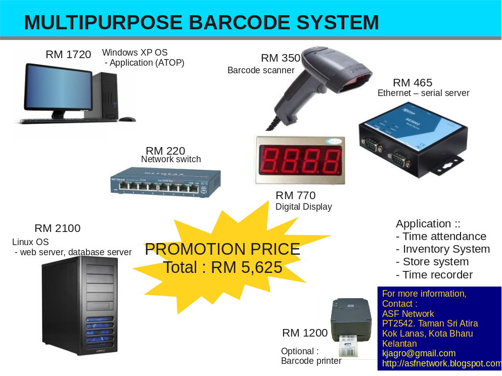 Asf Network It Solution 4u Multipurpose Barcode Scanning System