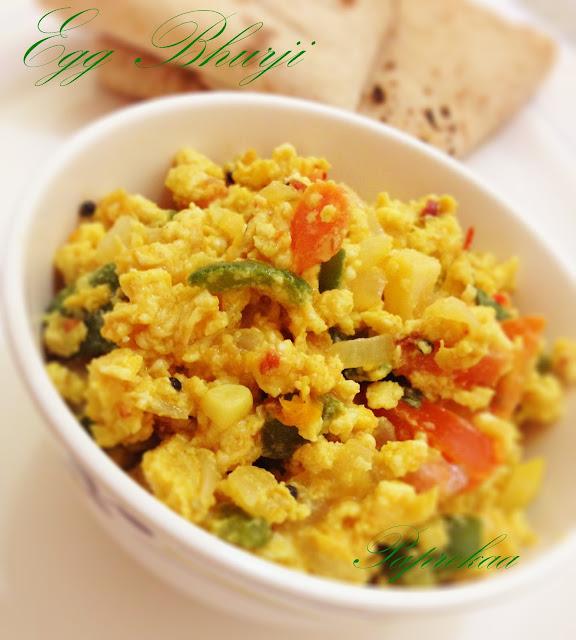 Paprekaa - Bon Appetit !!!: Egg bhurji / Indian Style Scrambled Egg