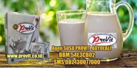 Susu Provit Boyolali  - Menjual Susu Kambing Etawa Provit di Boyolali dan sekitarnya. Susu Provit adalah susu kambing etawa yang di padukan dengan royal jelly sehingga baik untuk kesehatan sekaligus berfungsi untuk mengobati berbagai macan penyakit Kronis. Hubungi 082130077000 BBM 54E3CB02.