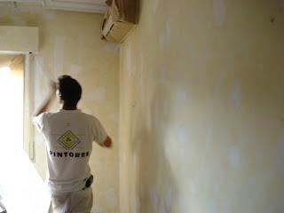 hazlo tú mismo, emplastecer paredes, pintores Madrid, A y A Decoracion