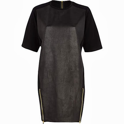 river island leather dress