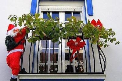 decoración balcón navidad