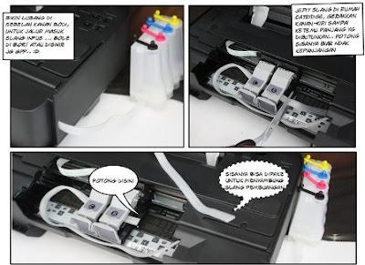Cara Memasang Infus Printer  1