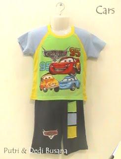 busana kartun motif cars