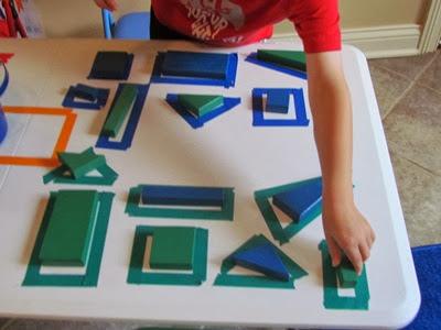 Εξερευνώντας τα χρώματα και τα γεωμετρικά σχήματα-1ο βήμα
