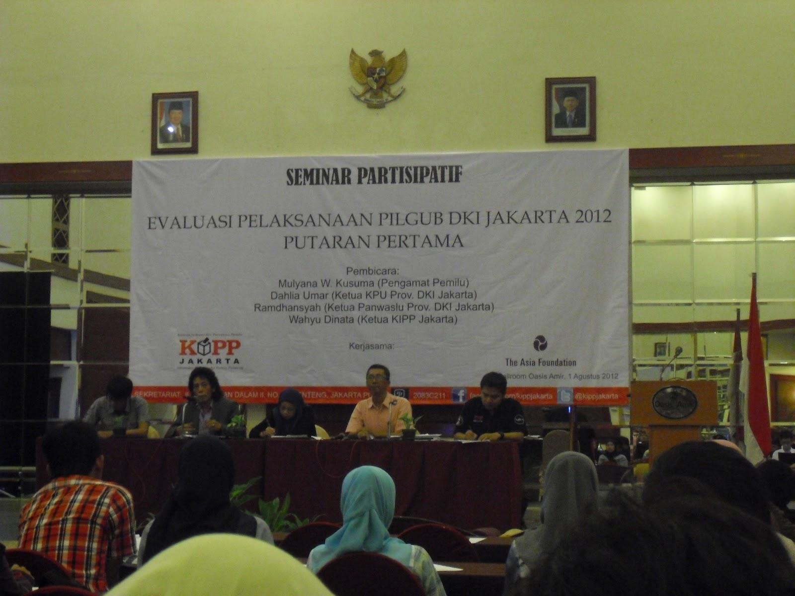 Partisipasi Masyarakat Dalam Pemantauan Pilkada DKI 2012 Putaran