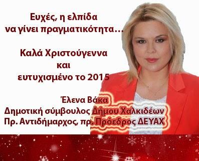 Έλενα Βάκα Δημοτική σύμβουλος Δήμου Χαλκιδέων