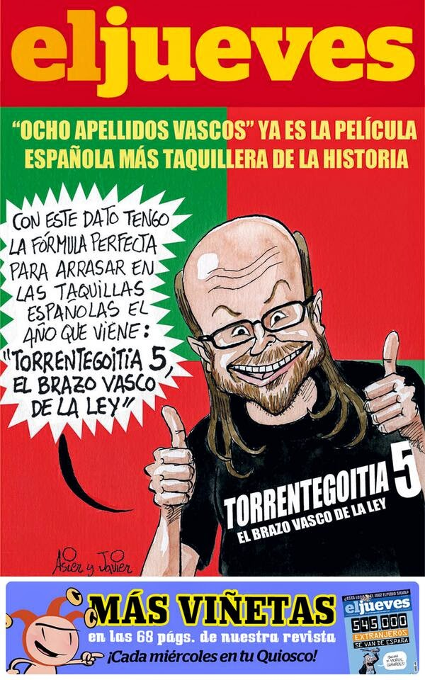 Torrente, Santiago Segura, Ocho apellidos vascos, desbanca película más taquillera