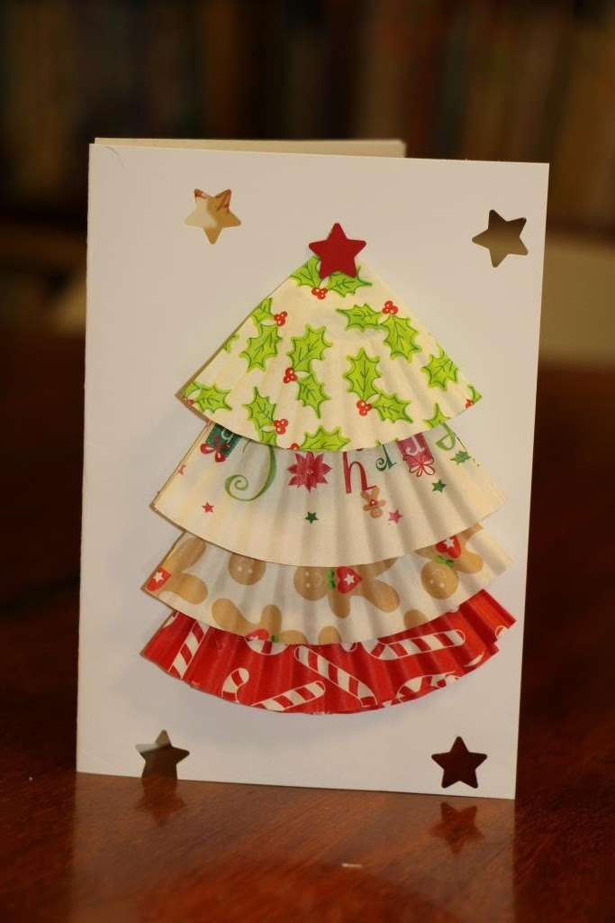 cupcake liner christmas tree cards virtual fridge this week