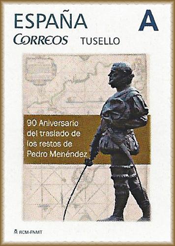 Sello personalizado de Don Pedro Menéndez de Avilés
