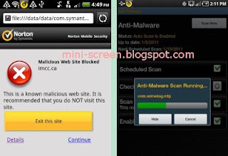 Norton Mobile Security Antivirus for Android Device Scanning