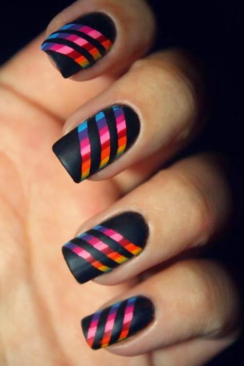 Gambar kuku tangan cantik (Nail Art)