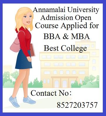 MBA In Annamalai University Contact No 8527203757