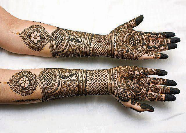 Bridal Mehndi Ki Design : Beautiful latest simple arabic pakistani indian bridal