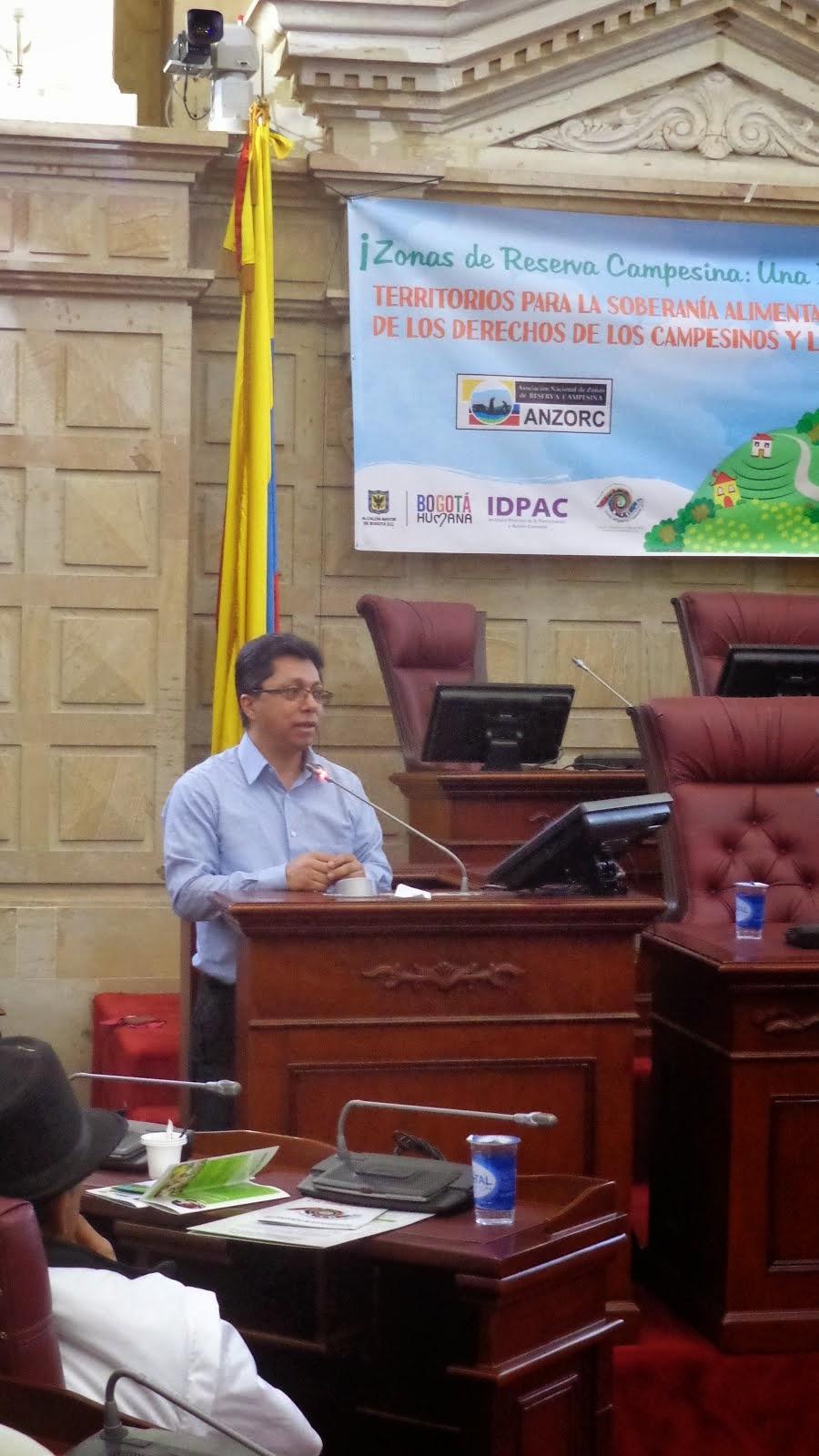 Presentación de ponencia en Seminario Internacional de Zonas de Reserva Campesina.