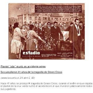 FUTBOL, TRAGEDIA DEL EQUIPO GREEN CROSS, 1961
