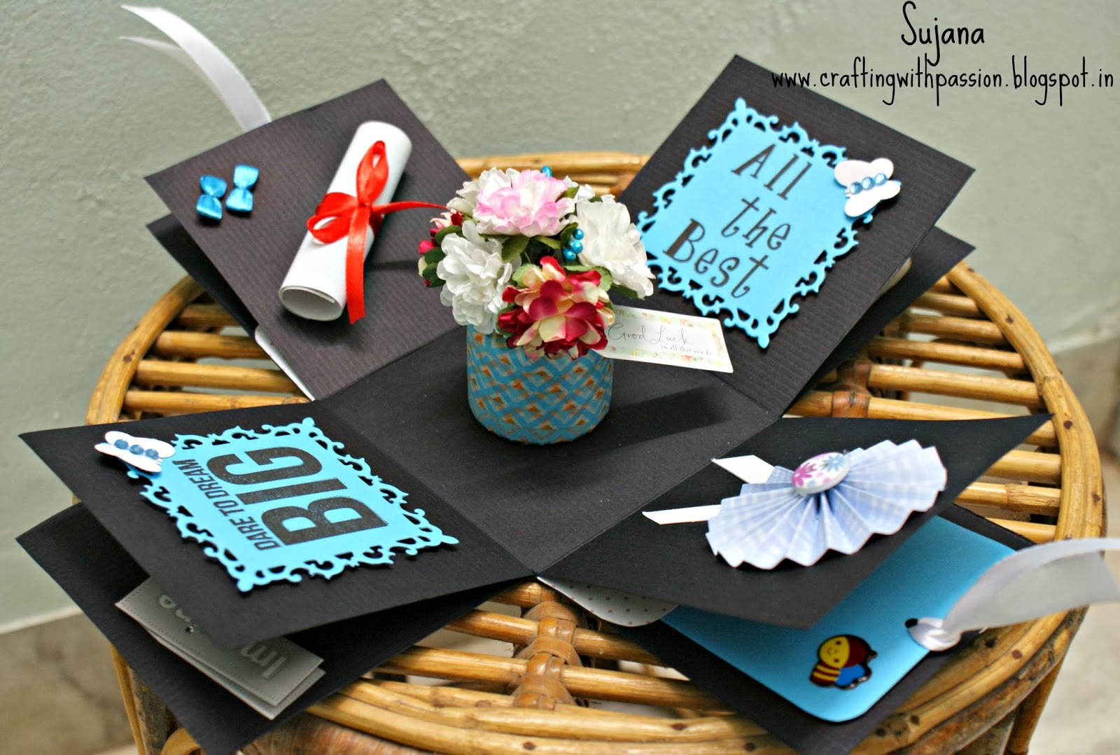 Crafting With Passion Graduation Themed Explosion Box