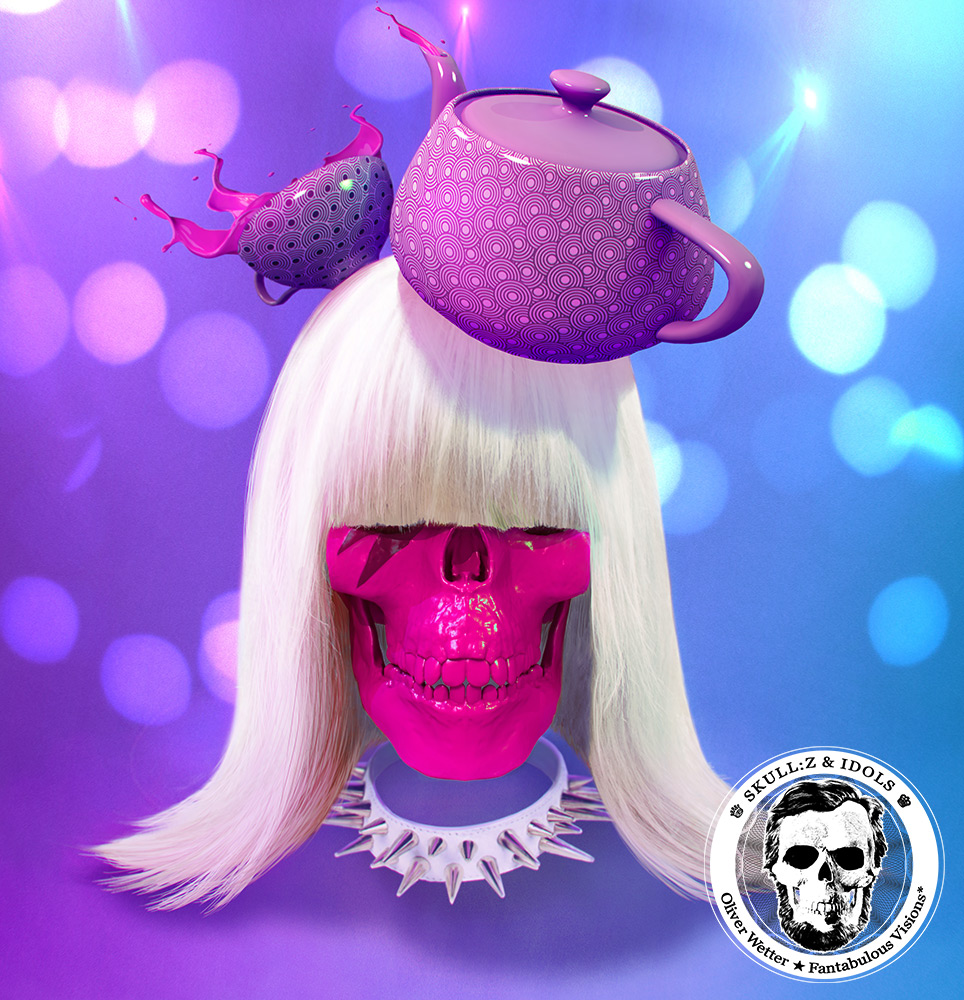 Skull portrait of Lady Gaga