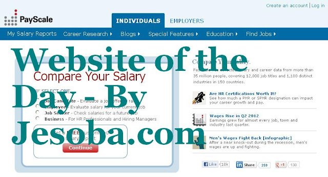 Web site of the Day | Utility - Pay Scale, Wednesday, 1st Aug, 2012