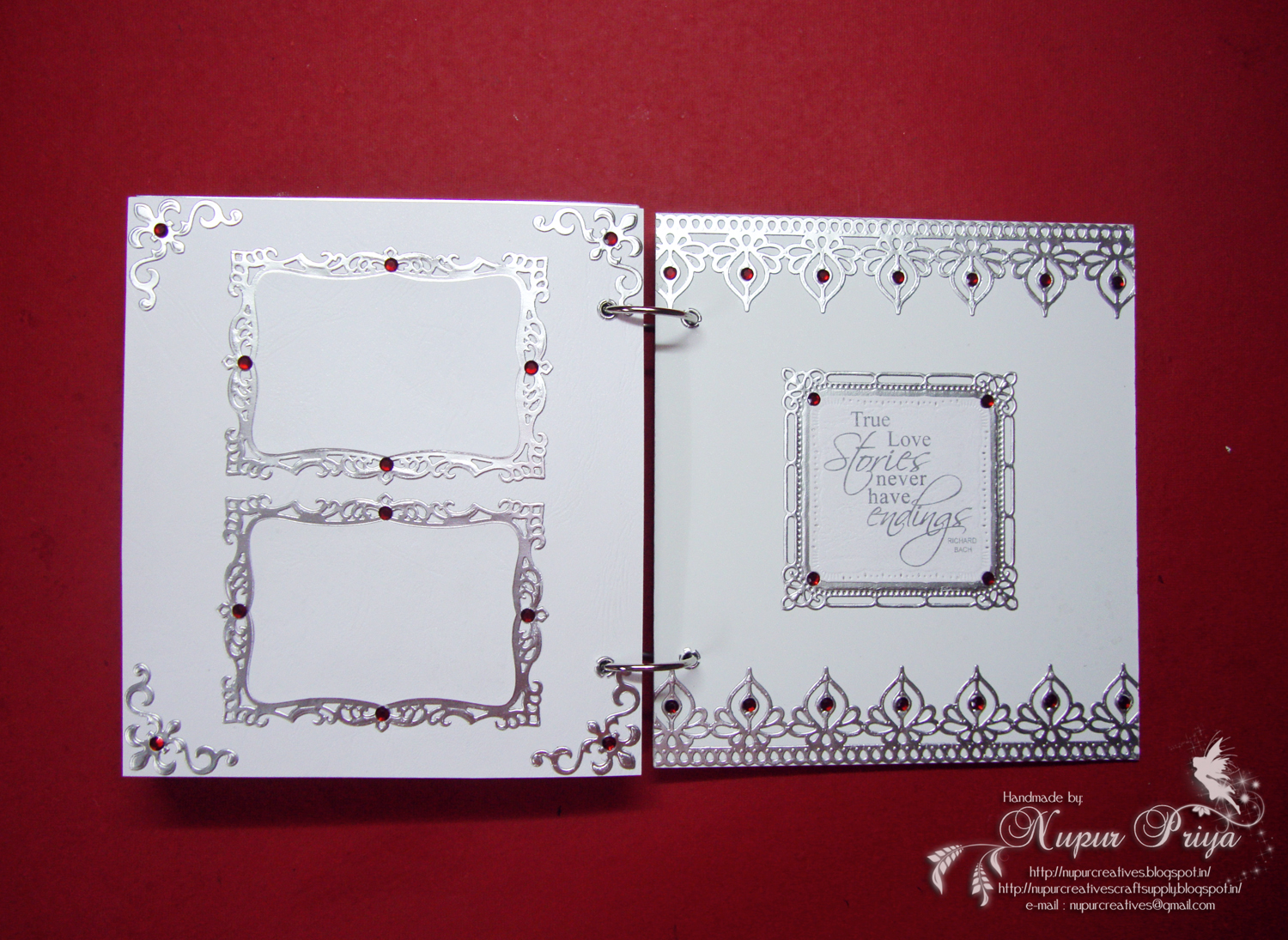 For 3 Photographs On The Last 2 Pages So That They Can Attach Of Their 25th Wedding Anniversary Celebration Complete Scrapbook