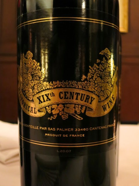 Wine Review of Historical XIXth Century L20.07 from France