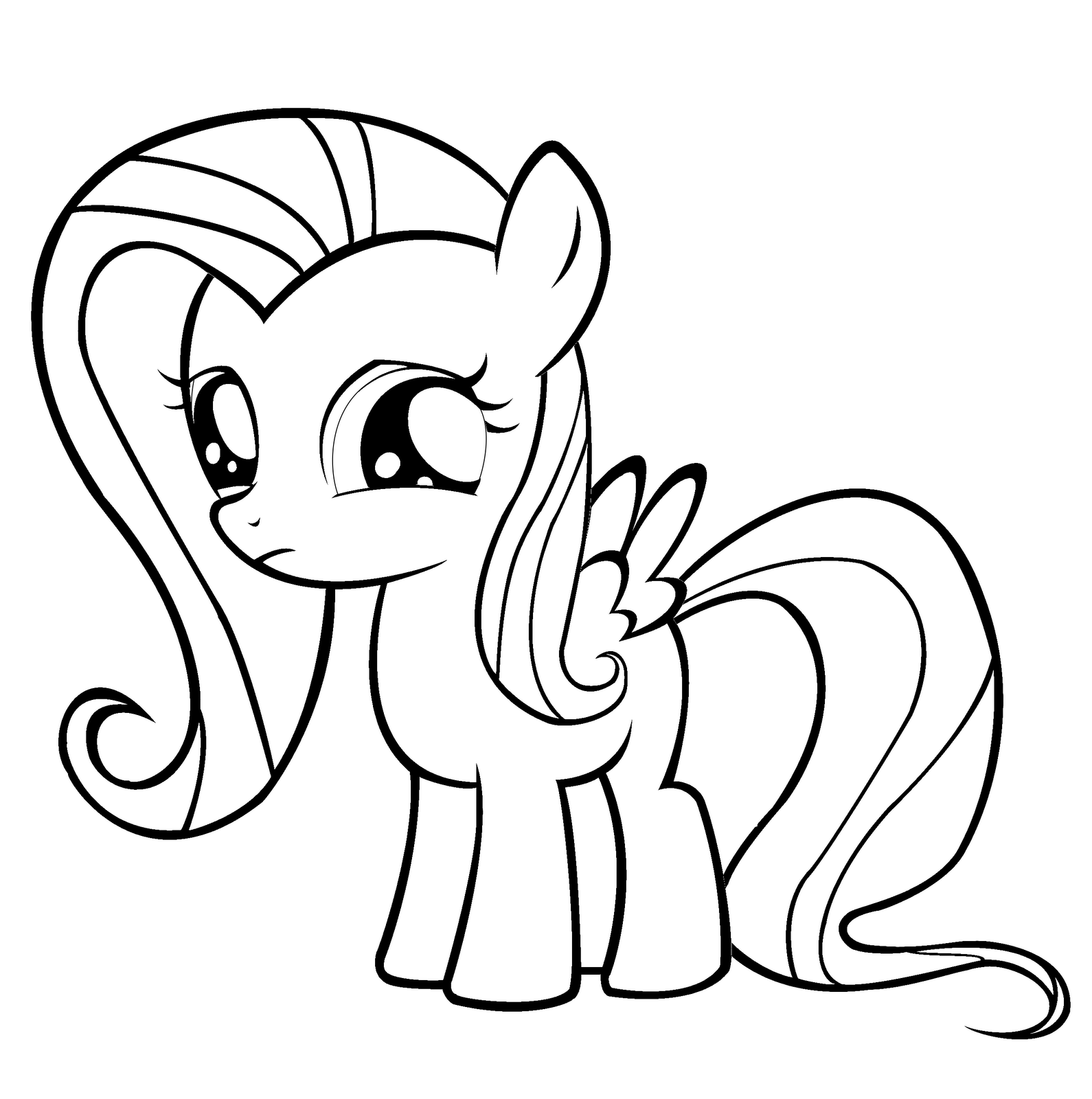 Coloring Pages My Little Pony Babies : Baby fluttershy coloring pages
