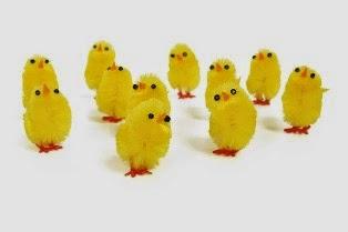 foto di tanti pulcini gialli