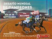 DESAFÍO DE CAMPEONES - JORGE RICARDO X RUSSEL BAZE - 18/9