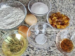 Fursecuri cu stafide ingrediente reteta