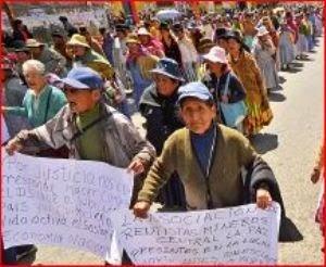 Jubilados en Bolivia