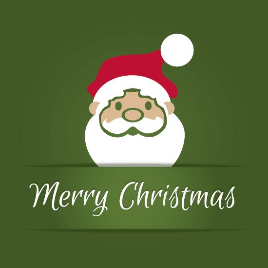 Sencillo Christma con Santa Claus