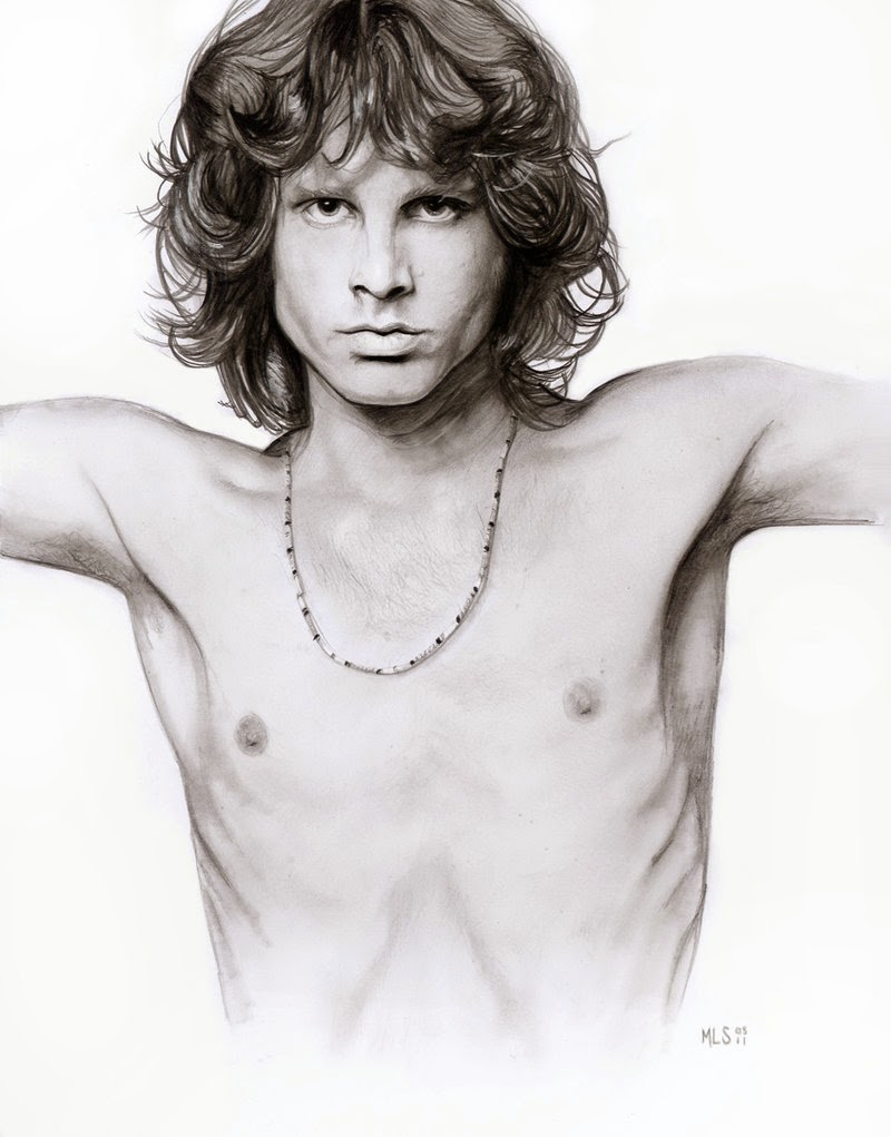 18-Jim-Morrison-Martin-Lynch-Smith-MLS-art-Celebrity-Drawings-www-designstack-co