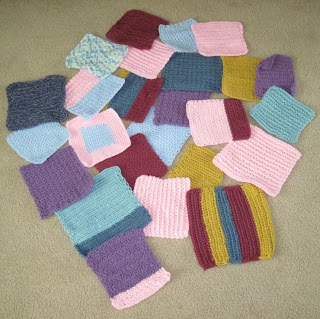 crocheted squares