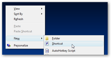 إضافة أوامر إغلاق وإعادة  تشغيل الجهاز إلى شاشة سطح المكتب لويندوز فيستا