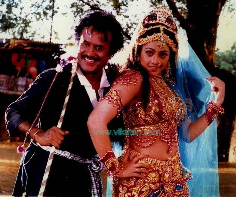'MUTHU' RAJINIKANTH WITH MEENA