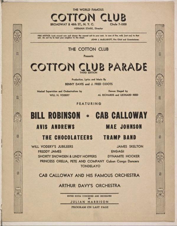 Cotton Club, Program 1938