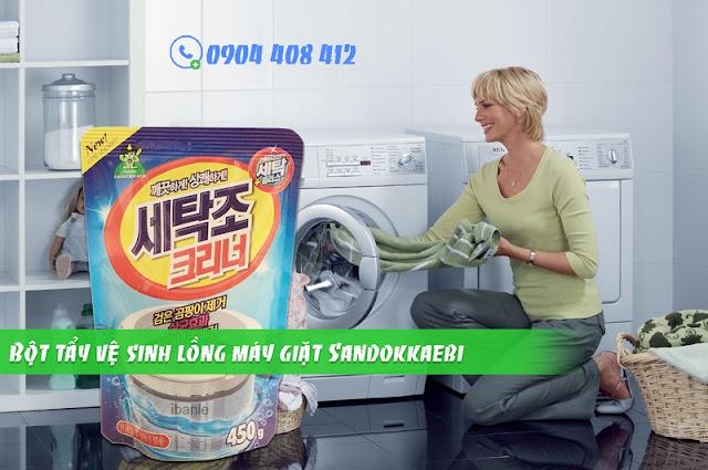 Chất tẩy vệ sinh lồng máy giặt Sandokkaebi