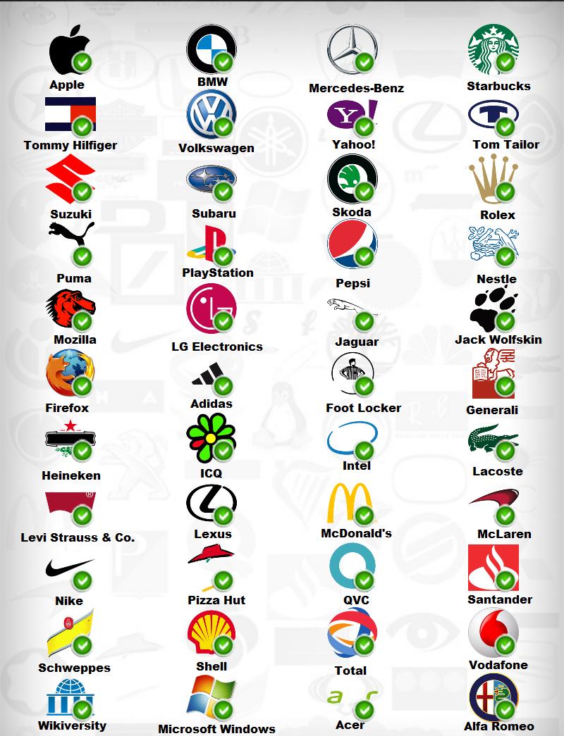 famous logos quiz