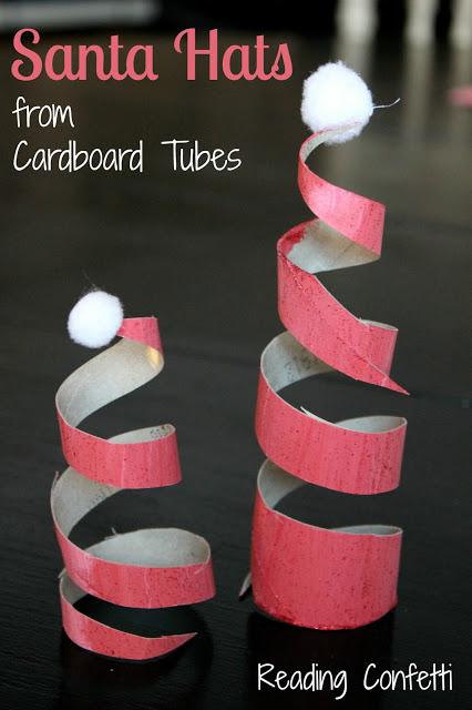 http://www.readingconfetti.com/2012/12/tp-roll-santa-hats-5-santa-books.html
