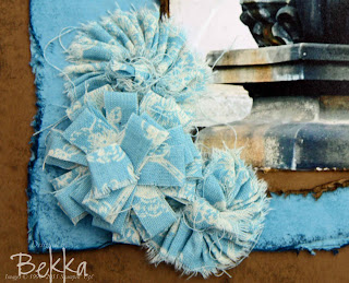 No Sew Pleated Fabric Flowers
